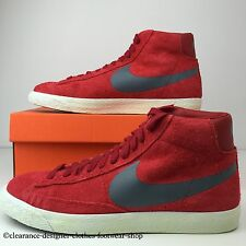 NIKE BLAZER MID PRM VINTAGE SUEDE TRAINERS RED NEW MENS SHOES UK 7 RRP £70