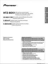 Pioneer HTZ-BD51 Blu-ray System Owners Manual