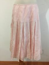 Banana Republic Flared Skirt Silk/ Cotton Pink on Pink Floral Size 2