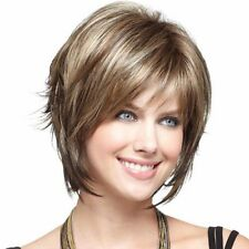 Natural Women Daily Full Heat Resistant Short Straight Hair Wigs Cap Synthetic