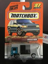 New 1998 Matchbox Car Die Cast Farm Horse Box Trailer Kentucky Stables  #87/100B