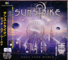 SUNSTRIKE Rock Your World + 1 Japan CD Astral Doors Twilight Force W.E.T. Eclips