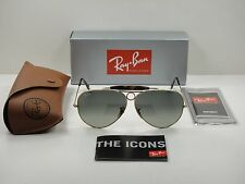 RAY-BAN SHOOTER HAVANA SUNGLASSES RB3138 181/71 GOLD FRAME/GREY LENS NEW! 62MM