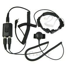 2Pin Heavy Duty Military Throat Mic Earpiece Headset for WOUXUN KG-UVD1P KG-UV9D