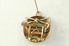 VINTAGE 24K GOLD CALIFORNIA GOLD RUSH NUGGET 14K GOLD MINERS MINING MINE CHARM