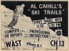 1961 WAST TV AD~AL CAHILL'S SKI TRAILS on WAST in ALBANY,NEW YORK~INSTRUCTION