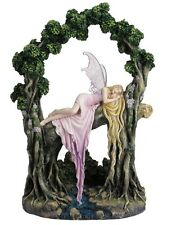 "12.5"" Rockabye By Selina Fenech Statue Fantasy Sculpture Fairy Tree Home Decor"