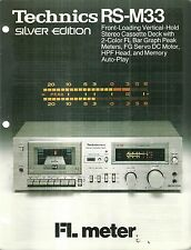 Technics RS-M33 Stereo Cassette Deck Sales Brochure