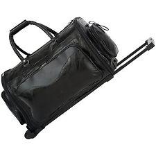 Embassy 21 inch Genuine Leather Folding Trolley / Duffle Bag