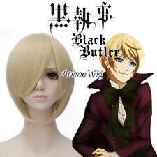 Black Butler Alois Trancy 30cm Light Blonde Cosplay Party Hair Full Wigs+Wig Cap