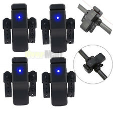 4 X Electronic Fishing Bite Sound Alarm LED Light Alert Bell Band On Fishing Rod