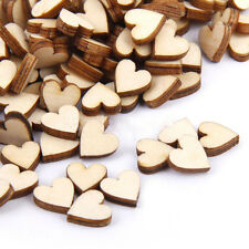 200 Wooden Heart shapes Laser Cut MDF Blank Embellishments Craft 10mm x 10mm