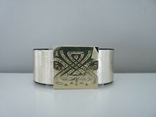 GENUINE BIBA GOLD LEATHER CUFF BRACELET BNWT RRP £39.00