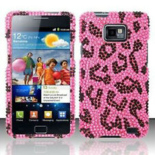 Pink Leopard Crystal Diamond BLING Case Phone Cover AT&T Samsung Galaxy S II 2
