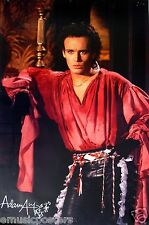 """ADAM ANT """"WEARING RED PUFFY PIRATE SHIRT"""" COMMERCIAL POSTER FROM 1984"""