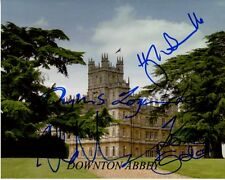 DOWNTON ABBEY signed photo HUGH BONNEVILLE ROBERT JAMES COLLIER LESLEY NICOL + 2