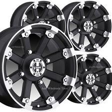 4) 12x8 4/4 2+6 GOLF CART RIMs WHEELs fits EZ-Go Club Car Yamaha Bad Boy Harley