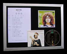 T REX+MARC BOLAN Get It On LTD TOP QUALITY CD FRAMED DISPLAY+EXPRESS GLOBAL SHIP