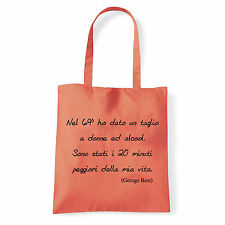 Art T-shirt, Borsa  George Best, Corallo, Shopper, Mare