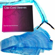 125pcs Disposable Tattoo Clip Cord Blue Plastic Covers Sleeves Cleaning Supply