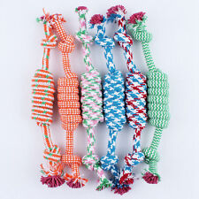 Puppy Dog Pet Chew Toy Braided Bone Tug Play Game Rope Knot Grinding Teeth Toy