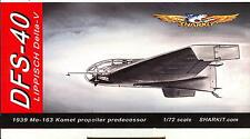 Sharkit Models 1/72 DFS-40 LIPPISCH DELTA IV German WWII Fighter Project