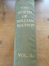 Vtg 1905 2nd Ed Poetry Book Vol 2 THE POEMS of WILLIAM WATSON Sonnets