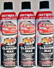 Waterless Wash Carnauba & Wax Fastwax FW1 Spray Can Removes Cleans Tar Dirt Bugs
