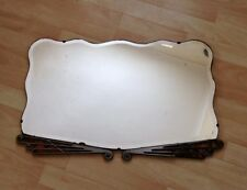 BEAUTIFUL GENUINE VINTAGE LARGE ART DECO BEVELLED FRAMELESS WALL MIRROR