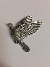 Woodpigeon Y34 Made from Solid Fine English Pewter Pin Lapel Badge