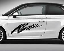 Car Body Stickers Racing Tattoos Custom Side Stripe Graphics - Various Colours