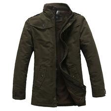 Vintage Style~ Men's Trench Coat Jacket Overcoat Windbreaker Outwear Long SIZE M