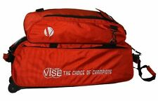 Vise Red 3 Ball Tote Bowling Bag With Shoe Pouch