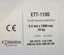 10,0 kgr Aluminium Saldatura Rods 1100 AL99.0Cu TIG Ø 2,4 x 1000mm Alluminio