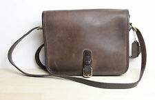 Vintage COACH Purse Shoulder Bag Brown Leather Made in NYC New York City USA
