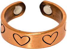 Copper Hearts - Magnetic Therapy Ring Magnet Finger