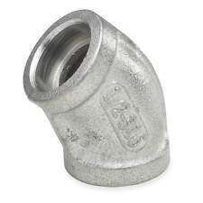 """Stainless Steel Schedule 80, 304, Socket Connect, 3/4"""" Pipe Size, 45 Elbow"""
