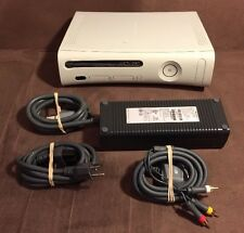 Microsoft Xbox 360 White Console & Wires! ~ Works Great! ~ Fast Shipping! ~ LQQK