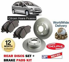 FOR CITROEN XSARA PICASSO 2001-- ON NEW REAR BRAKE DISCS + DISC PADS SET KIT