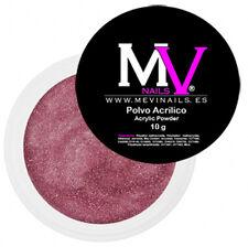 Polvere  Acrilica Rosa con lucido  Professionale MV 10 gr -  Porcellana unghie