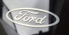 4x Ford Style car vinyl sticker decal fiesta focus mondeo - Brushed Chrome Vinyl