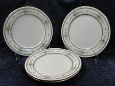 "Noritake Ivory China Amenity 7228 Dinner Plate 10 5/8"" Gold Trim - FOUR"