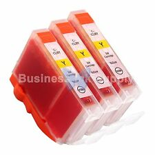 3 YELLOW CLI-8 CLI-8Y Ink Tank for Canon PIXMA MX700 IP3300 IP3500 CLI-8 CLI-8Y