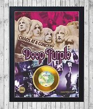 DEEP PURPLE IN ROCK CUADRO CON GOLD O PLATINUM CD EDICION LIMITADA. FRAMED