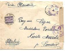 Italy  China To Italy  Via Russia  WW II Censored  1941