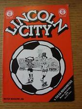 29/10/1979 Lincoln City v Tulsa Roughnecks [Friendly] (Light Crease)
