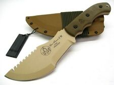 TOPS Micarta Coyote Tan Tom Brown TRACKER Survival Knife + Sheath! TBT01-TAN