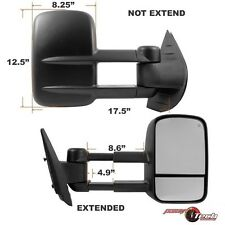 2007-2013 Silverado Sierra Passenger Extendable Towing Trailer Power Side Mirror