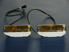 VW Golf 1 & 2 Jetta Caddy Polo  AUDI 50 80 Pair Smoked Front Indicator Repeaters
