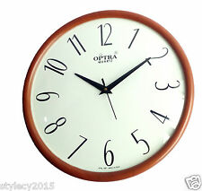 "ROUND BIG 13"" Wall Clock  Digit Dome Glass SILENT Sweep Movement - WC519"